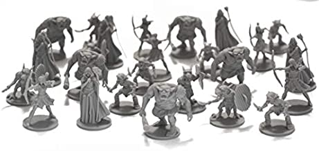 DND Enemies Minis 25 Fantasy Miniatures for Tabletop/Dungeons and Dragons Roleplaying Games - Bulk Minis Unpainted- Monsters Figures Starter Set - Compatible with D
