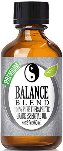 Balance ätherisches Öl Blend 100% Pure, Best Therapeutische Grade (vergleichbar mit Young Living Valor und doterra Balance–HO Holz, Weihrauch, Zitrone, Kampfer, deutsch Kamille, Ravensara) 60ml