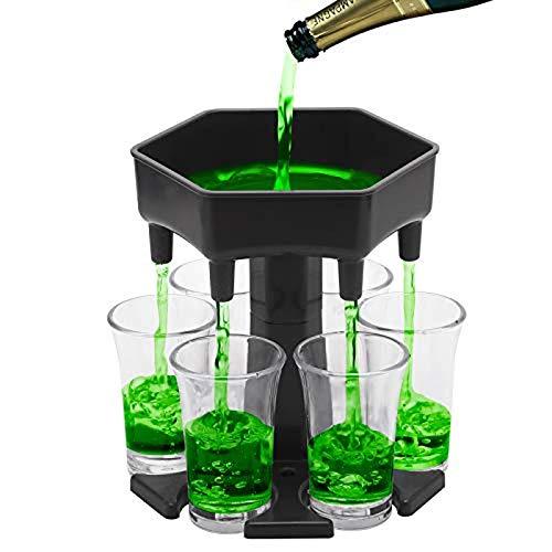 Kpcxdp Dispensadores y Soportes universales de 6 Copas de Vino, dispensadores de Barra de hogar para llenar líquidos