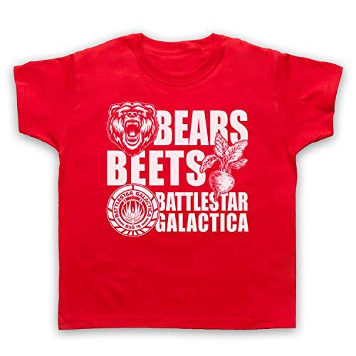 Inspired Apparel Inspirado por Office US Bears Beets Battlestar Galactica No Oficial Camiseta para Niños