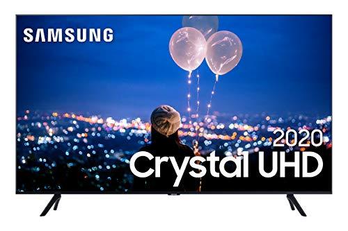 """Smart TV 55"""" 4K Samsung UN55TU8000GXZD, Crystal UHD, Borda Infinita, Alexa Built In, Visual Livre de Cabos, Modo Ambiente Foto, Controle Único"""