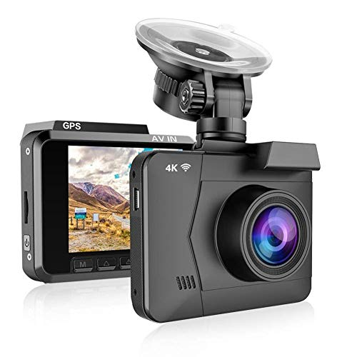 Dash Cam, 4K-Nachtsicht-Fahrenrecorder HD Weitwinkel Errichtet Im GPS-WiFi GPS G- Sensor-Parken-Überwachung Loop Recording Autos