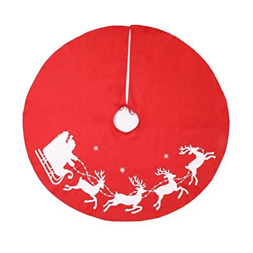 BESTOYARD Weihnachtsbaumdecke Baumrock Weihnachtsbaum Teppich Christbaum Unterlage Weihnachtsschmuck Weihnachtsdeko 100cm(Elch)