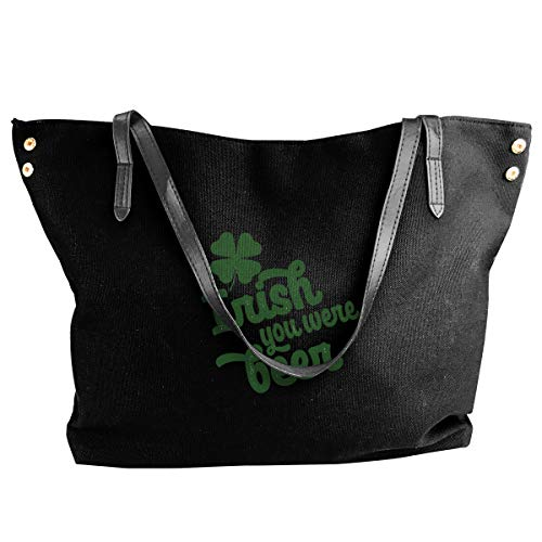 I Shamrock Beer Irish St Patrick'S Day Women Style Canvas Large Tote Top Handle Bag Shopping Hobo Shoulder Bag, Large Size 18.1'' X 4.9'' X 12.99''