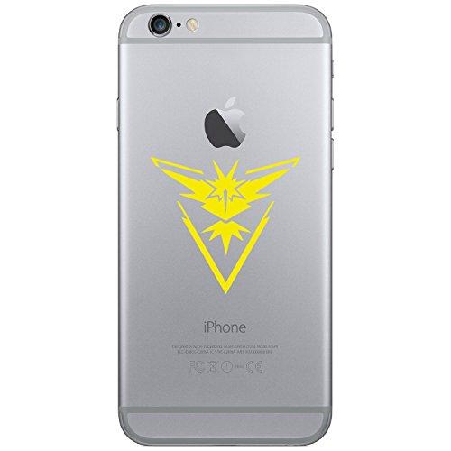Pokemon Go–Team Instinct Handy Laptop Tablet Auto iPhone 44S 55C 5S 6Galaxy S4S5S6, Android Vinyl Fenster Glas Wände Bumper Aufkleber Aufkleber (gelb)