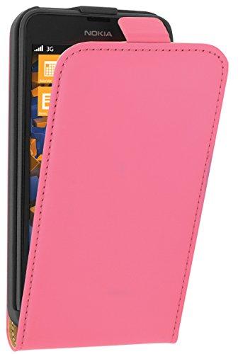 mumbi Tasche Flip Case kompatibel mit Nokia Lumia 630 Hülle Handytasche Case Wallet, pink