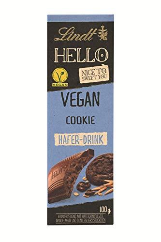 Lindt HELLO Vegan Cookie, Vegane Schokolade mit dunklen Keks-Stückchen, laktosefreie Schokolade ohne Zuckerzusatz, 100 g