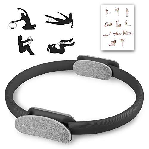 OurTop Yoga Aro Pilates, Anillo Yoga Círculo Mágico para Fitnes Ring Pilates Círculo de Ejercicio Mágico con asaentrenamiento para Resistencia y Flexibilidad