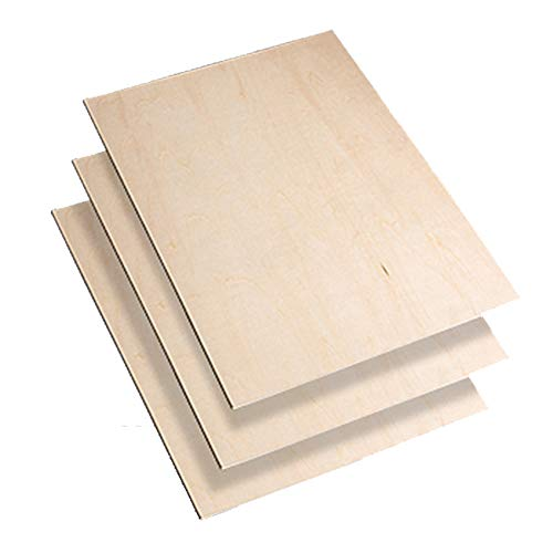 DXIA 8 Stücke Balsa Holz Platten, Sperrholzplatten, 300x200x1.5 mm Dünnes Balsaholz Unlackiert Lindenholz, Basteln Modell Holzplatte für Flugzeug, Schiff, Holzarbeiten, Modell, Kunst und Handwerk