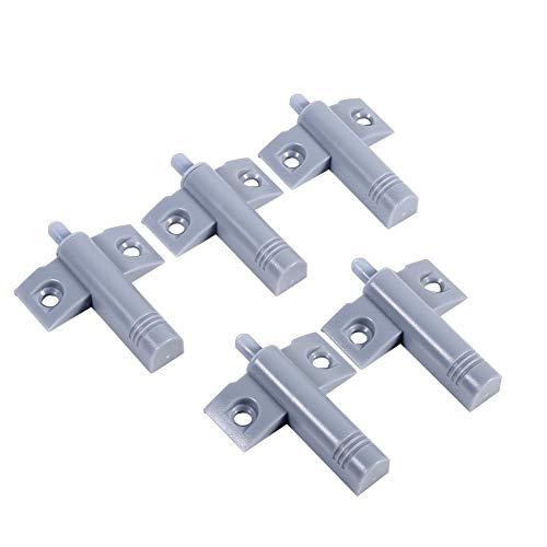 20 stuks schokdemper voor kastdeuren, vertragend, push-to-off-systeem, demper voor lade, met zachte sluiting grijs.
