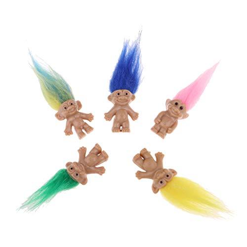 Baoblaze Muñeca Troll Lucky con Peluca Juegos Pretende para Niños de 5 Piezas - #1