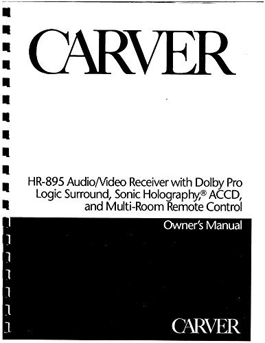 Carver HR-895 Receiver Owners Instruction Manual Reprint [Plastic Comb]