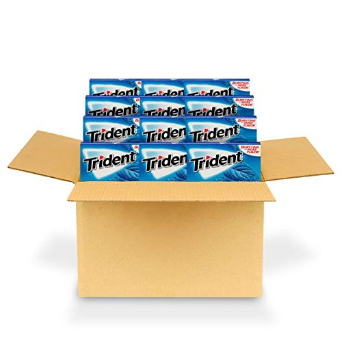 Trident Original Flavor Sugar Free Gum - with Xylitol - 24 Packs (168 Pieces Total)
