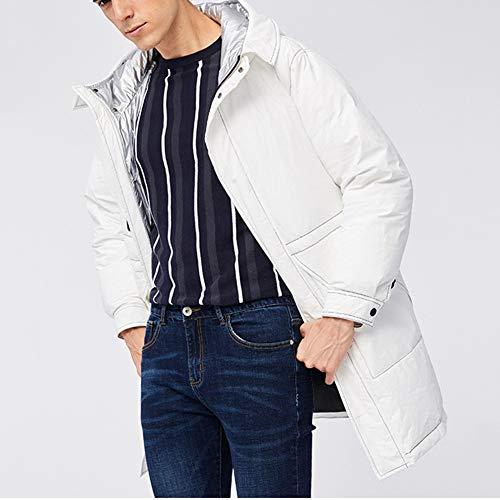 Warm verdikte winter capuchonpullover leuke mode donsjack ritssluiting middellang mantel mantel mantel mantel voor mannen en vrouwen