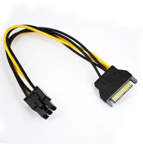TopgadgetsUK SATA-voedingskabel naar 6 pins PCI-E PCI Express-voedingskabel PSU Power Graphics Converter Adapter Videokaart voedingskabel
