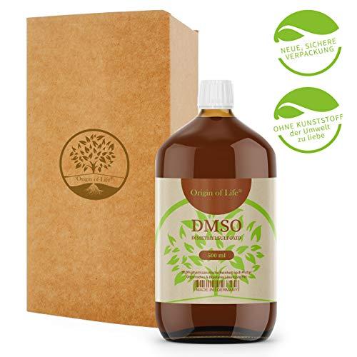 DMSO 500ml 99.9% Reinheit - pharmazeutisch Rein nach Ph. Eur. - unverdünnt – Dimethylsulfoxid – ohne Zusatzstoffe - Made in Germany