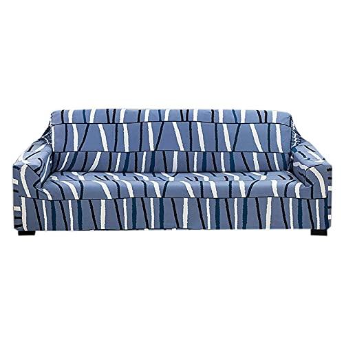 Funda de sofá Estampada elástica, Protector de Muebles de 1 Pieza con Fondo elástico Funda de sofá Universal antirrayas Funda de sofá de Spandex Lavable para sofá de 1 2 3 4 Cojines, sofá de Dos pla