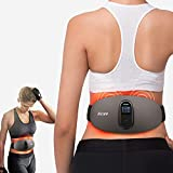 Lower Back Massager,Heating Pad for Back Pain Relief, Men Women Abdominal Massager, Cordless Electric Waist Belt with Remote Control (Black)