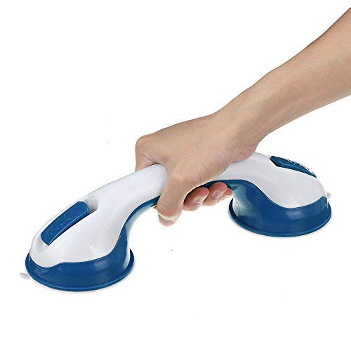 Asidero para baño Portátil Baño Grip Tren de Bath SPA Ducha Apoyo de Seguridad Montaje de la succión de vacío Barra de la manija de Ventosa Soporte Anti Slip-Gris (Color : Blue)