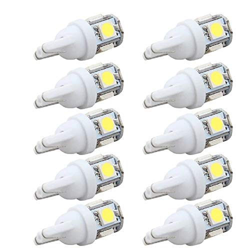 Billion Deals 10pcs LED Coche DC 12V Lampada Luz T10 5050 Super Blanco 194 168 W5W T10 LED Estacionamiento Bombilla Auto Cuña Lámpara