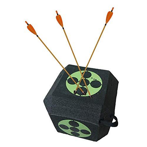 yestter - Diana de tiro con arco de flecha 3D de 6 caras, reutilizable, 3D, grandes dianas de tiro al arco para todos los tipos de flechas, longitud lateral de aproximadamente 22 cm