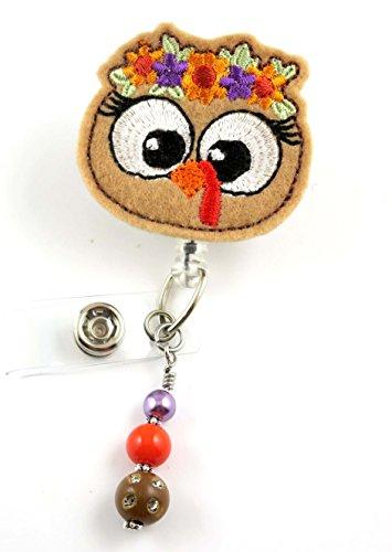 Turkey Girl - Nurse Badge Reel- Retractable ID Badge Holder - Nurse Badge - Badge Clip - Badge Reels - Pediatric - RN - Name Badge Holder