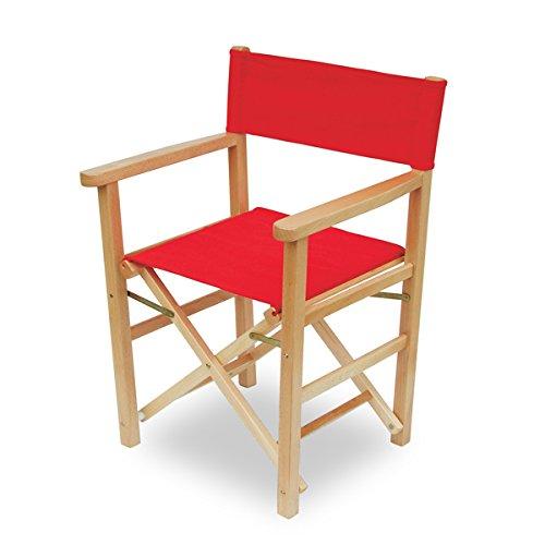 Mobili Ilar Chaise Capri – Naturel Toile PVC Rouge