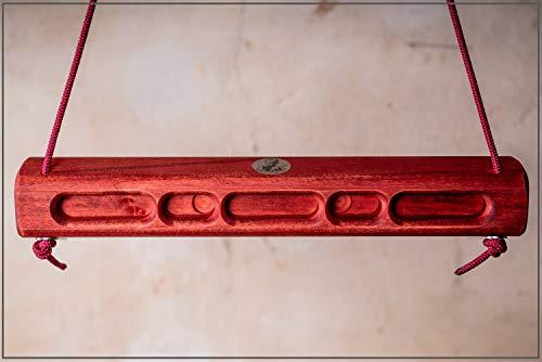 Captain Fingerfood Kletterboard Trainingsboard Griffboard Hangboard 180° (radieschen rot)