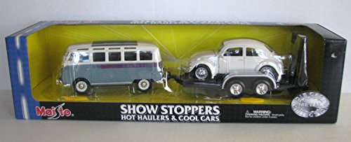 Maisto Show Stoppers Hot Haulers and Cool Cars Series 5 - VW Bus Hauling VW Beetle