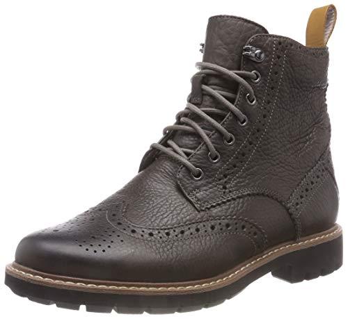 Clarks Herren Batcombe Lord Chelsea Boots, Grau (Taupe Leather), 44 EU