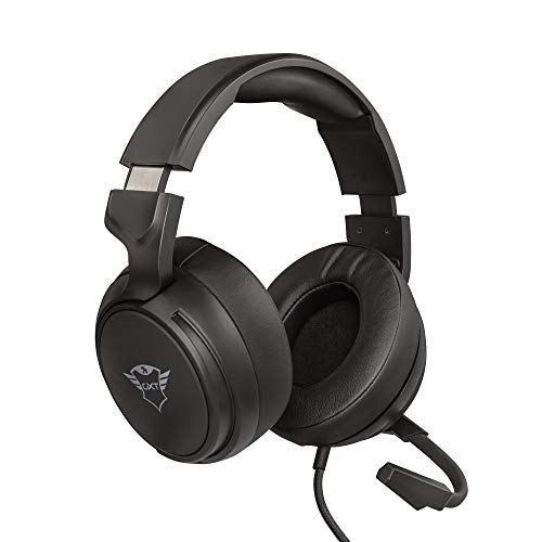 Trust Cuffie Gaming GXT 433 Pylo con Microfono a Scomparsa, Driver da 50 mm, 3.5 mm Jack, Filo, Over Ear, per PS4, PS5, Xbox Series X, PC, Xbox One, Switch, Nero