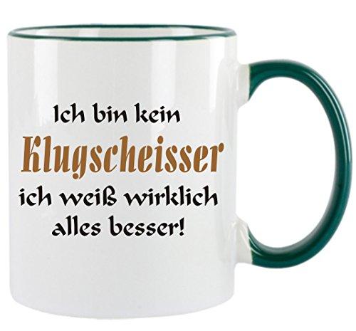 Creativ Deluxe Ich Bin kein Klugscheisser ich weiß wirklich Alles Besser Kaffeetasse mit Motiv, Bedruckte Tasse mit Sprüchen oder Bildern - auch individuelle Gestaltung nach Kundenwunsch