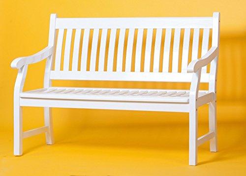 SEDEX New Jersey 3-Sitzer Gartenbank aus FSC® 100% Eukalyptusholz Holzbank Parkbank Bank weiß