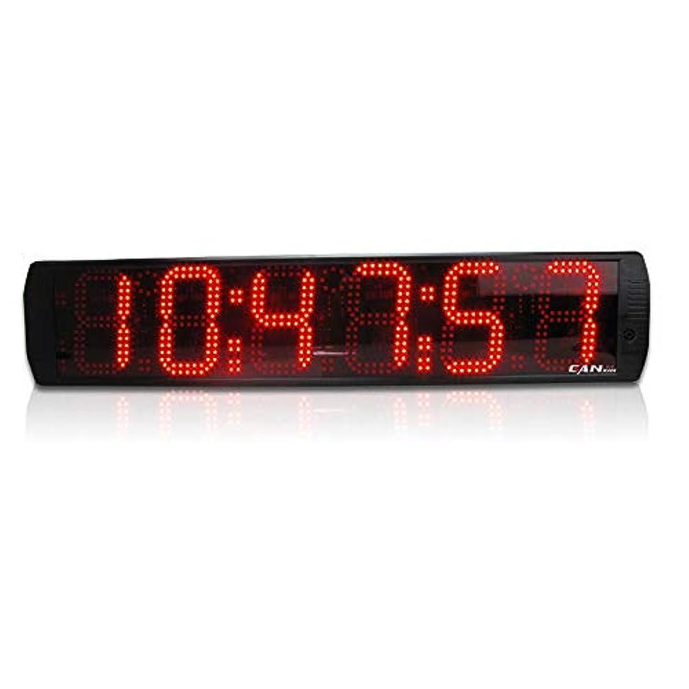 ベルベットシャーロットブロンテシャーNEWTRY 6インチ6ビットLEDタイマー デジタルタイマー 大型 高精度 体育館 マラソン大会 ジム ガレージ オフィス フィットネス ゲーム 倉庫