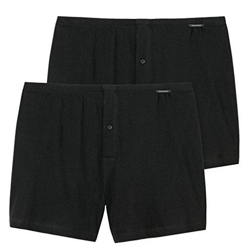 Schiesser - Boxershorts - 110291 - Jersey - (XXX-Large (Herstellergröße 009), 2 X Schwarz)