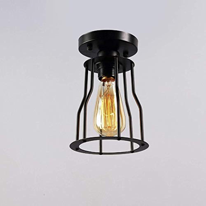 Deckenleuchte Modernes Design mit 1 Leuchte E27 Deckenleuchte Deckenbeleuchtung Lampe Deckenleuchte Küchenleuchte Eisenrahmen Lampe  15 cm Schwarz lackiert, C