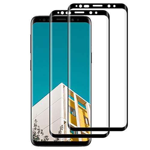 Lixuve [2 Pezzi] Vetro Temperato per Samsung Galaxy S8 Pellicola Protettiva, Durezza 9H, Anti Graffio, Senza Bolle, Alta Definizione, Olio-Prova Protezioni Schermo