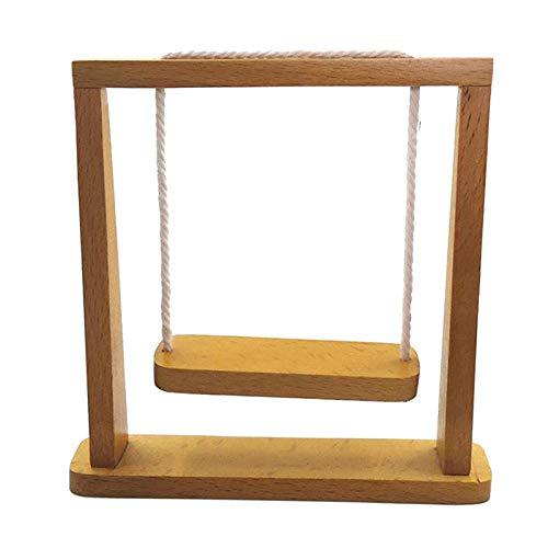 T TOOYFUL Modello di Mobili per Sedia a Dondolo in Legno in Miniatura per Casa delle Bambole 1/12 1/6