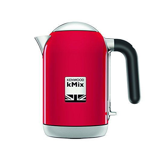 Kenwood kMix electric kettle 1 L Red 2200 W kMix, 1 L, Red, Metal, Buttons, Button, Stainless steel