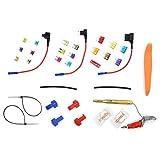 Republe 10PCS / Set En línea de Coches Mini Fuse Holder Prueba de Salpicaduras fusibles Automotive Fuse Holder a Grifo de Coches Add-A-Circuito