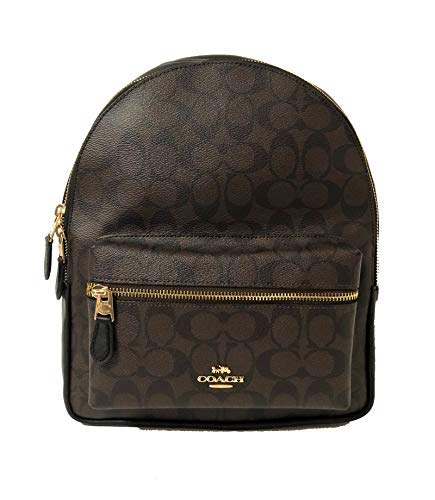 Coach Signature Medium Charlie Backpack (IM/Brown/Black)
