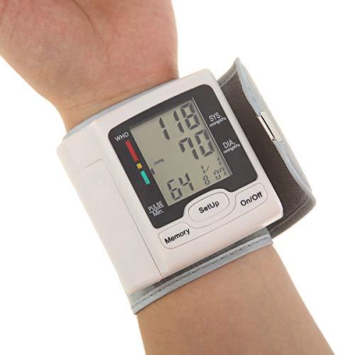iFCOW Monitor de presión arterial automático digital de muñeca monitor de presión arterial puño máquina BP cuidado médico doméstico para uso doméstico