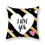 HCBDQQ Valentine's Day Pillowcase Funda De Almohada De Cuatro Piezas DecoracióN del Hogar Funda De...