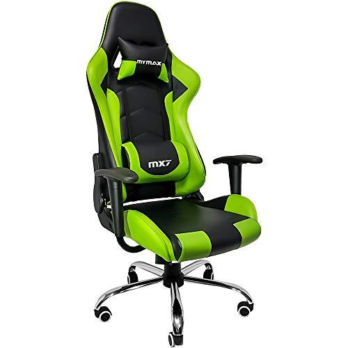 Cadeira Gamer Mx7, Mymax, 25.008789, Verde/ Preto