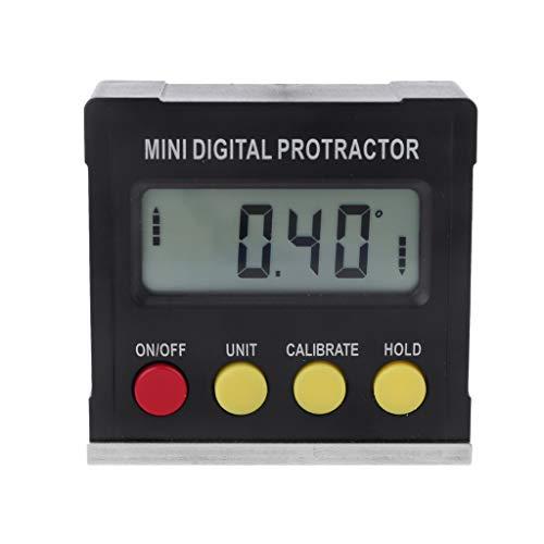 Rongzou Winkelmesser Neigungsmesser 360 Grad Digital Electronic Level Box Magnetfuß Messwerkzeuge