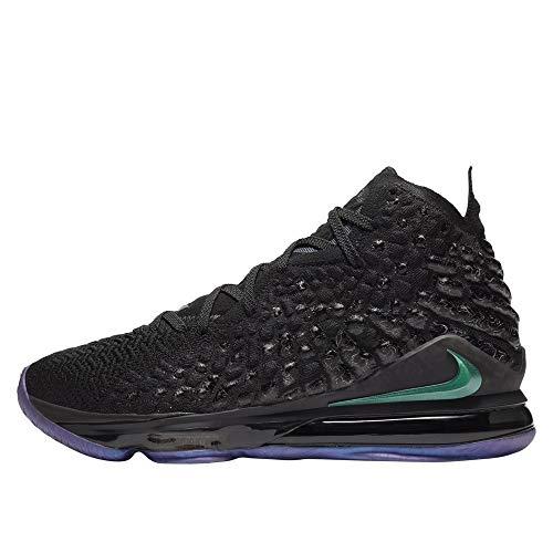 Nike Lebron 17 - Zapatillas de baloncesto, negro (Negro/Negro), 44.5 EU