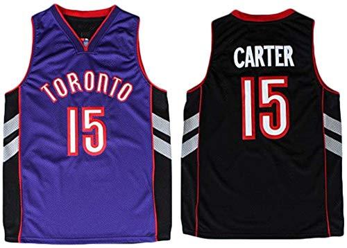 XSJY NBA Basketball Jersey - Toronto Raptors 15# Vince Carter Retro Jersey, Confortevole/Leggero/Traspirante Ricamati Mesh Unisex Felpa,C,M:170~175cm/65~75kg