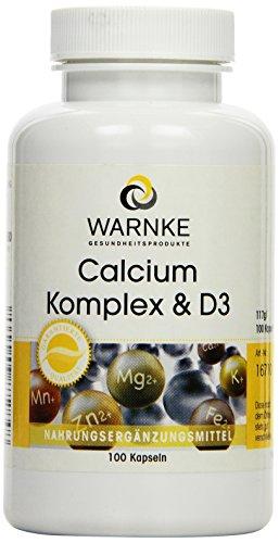 Warnke Gesundheitsprodukte Calcium Komplex und D, mit Calcium, Magnesium und Vitamin D3, 100...