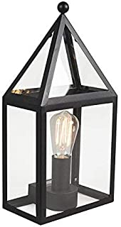 Country Country Exterior Wall Lamp/Wall Light Black - 2 Glass/Stainless Steel Rectangle E27 Max. 1 x 60 Watt/Outdoor/Garde...
