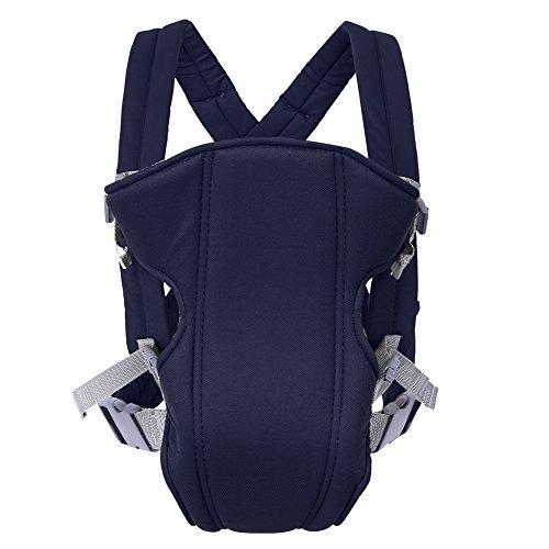 Portabebés, frente ajustable y mochila Portabebés Ligero Unisex Multifunción Portabebés para bebé recién nacido Toddle 0-36 meses(Azul marino)
